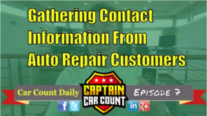 Gathering Your Auto Repair Customer's Contact Information