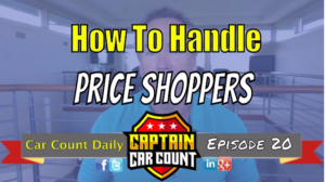 how to handle auto price shoppers