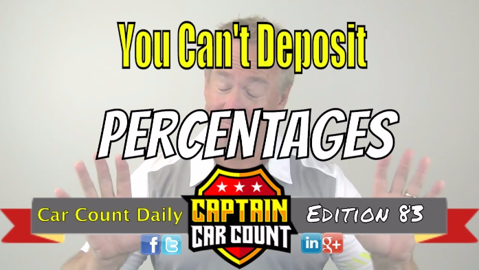 You Can't Deposit Percentages